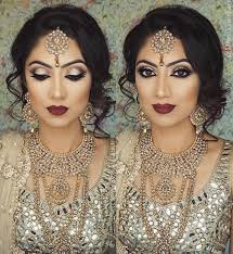 websta indianweddingbuzz this brides bold burgundy lip looks amazing with her chagne coloured outfit