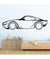 wallskart car line art vinyl wall stickers