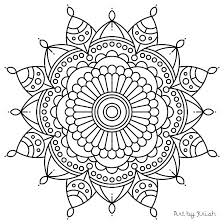 Mandala Flowers Coloring Pages Pdf Coloring Pages For Elderly