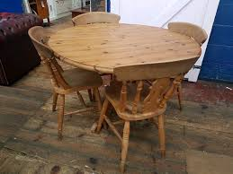 round pine farmhouse table and chairs