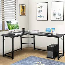 Modern office desks for home Wood Image Unavailable Amazoncom Amazoncom Modern Luxe Lshaped Desk Corner Computer Pc Table