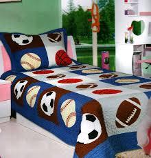 mk collection 2 pc bedspread boys sport football basketball baseball new