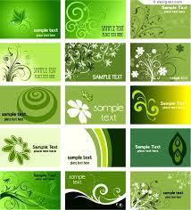 Green Card Template 4 Designer A Green Card Template Vector Material