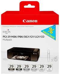 <b>Набор картриджей Canon PGI-29</b> MBK/PBK/DGY/GY/LGY/CO ...