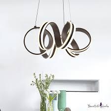 <b>Brown</b> Metal <b>Modern LED Chandelier</b> Indoor Decorative Lights ...
