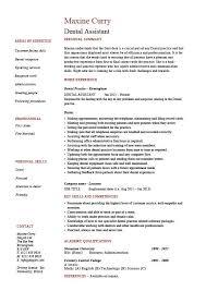 Entry Level Job Resume Examples Resume Template Dental Assistant Resume Sample Diacoblog Com