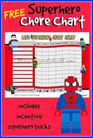 Autism Chore Chart Daily Autism Freebie Lego Superhero Chore Chart