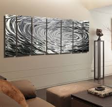 Metal Wall Decorations For Living Room Ripple Effect Xl Silver Abstract Corporate Metal Wall Art Decor