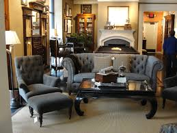 Luxury Man Cave With Grey Tufted Wing Chairs And Table Also Vintage  Cabinets Decors As Inspiring Small Man Room Ideas