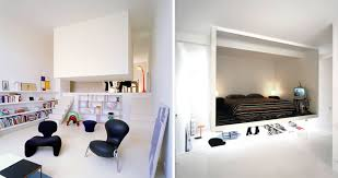 Contemporary furniture small spaces Decorating This Contemporary Design Creation Of French Architects Emmanuel Combarel And Dominique Marrec Offers An Entirely New Aesthetic Experience Of Bedroom Space Franzburger 50 Small Studio Apartment Design Ideas 2019 Modern Tiny
