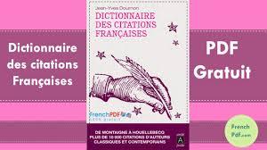 Dictionnaire Des Citations Françaises En Pdf Gratuit