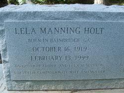 Lela Manning Holt (1919-1999) - Find A Grave Memorial
