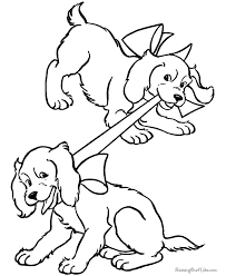 Puppy Dog Coloring Pages Free Printable For Kids