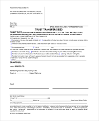 Sample Deed Of Trust Form New Sample Grant Deed Form 48 Free Documents In PDF