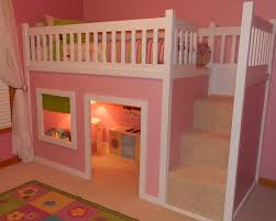 bunk bed with stairs for girls. Playhouse Loft Bed With Stairs | Do It Yourself Home Projects From Ana White-- Bunk For Girls O