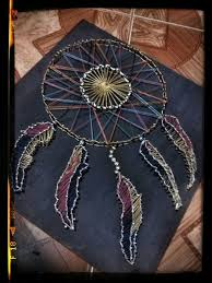 How To String Dream Catcher String art dream catcher discovered by Ginny Gatchalian 11
