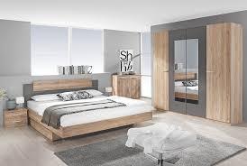 Schlafzimmer 4 Tlg Borba Von Rauch Packs Mit 160x200 Bett Eiche Sanremo Hell Lavagrau