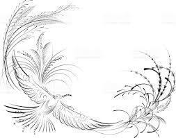 Victorian Calligraphy Dove With Olive Branch Calligraphy Drawings