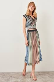 2019 Trendyol Multicolored Knitwear Skirt Summer Sparkle Pleated Tclss19du0045 J190426 From Tubi02 45 53 Dhgate Com
