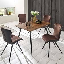 Vollgestopft Stühle Esstisch Mit Stühlen Flamunca In Dunkelbraun Und