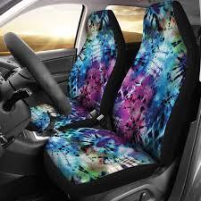 tie dye car seat covers set bright