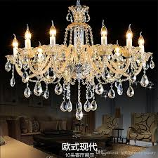romantic champagne crystal chandelier chain re light manor clubhouse lights living room dining room bedroom k9 crystal chandelier chains chandeliers