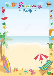 夏祭りのイラスト ベクトル記号は垂直テンプレートのビーチ背景デザイン
