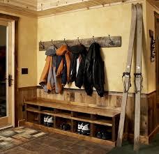 Vintage Ski Coat Rack wallmountedcoatrackEntryRusticwithcoathooksCubbyHoles100 74