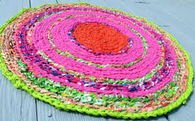 lilly pulitzer inspired fruit salsa rag rug boho