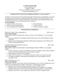 Sample Resume For Project Manager In Manufacturing Sample Resume Of It Infrastructure Project Manager Valid Project 23