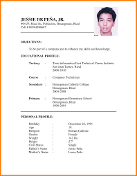Download Resume For Job Format Of Resume For Job Free For Download 24 Example Of Resume To 18