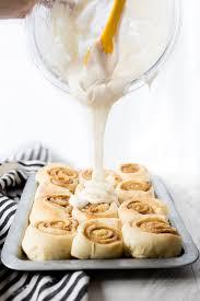 best cinnamon roll icing no cream