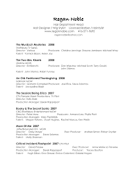 Chic Production Assistant Resume Examples On Film Production
