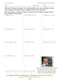 worksheets multi step equations worksheet eq07 multi step equations with pahesis combining like terms equations