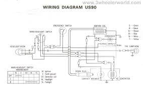 3 wheeler world tech help honda wiring diagrams us90 1970 thru 1973 atc90 1974 thru 1978
