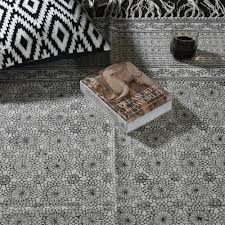 beige black hand woven block printed indigo dyed cotton rug