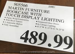 deal for the martin furniture glass door bookcase at costco