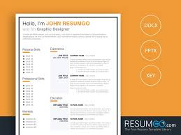 Jonas Clean Resume Template Resumgocom