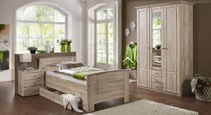 Schlafzimmer im Landhausstil Eiche sägerau Nachbildung - Carpina