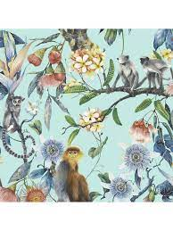 Galerie Tropical Lemur Vinyl Wallpaper ...