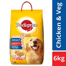 Pedigree Puppy Food Feeding Chart Pedigree Adult Dry Dog Food Chicken Vegetables 6 Kg Pack