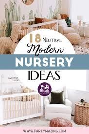 18 neutral modern nursery ideas for