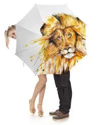"""Зонты c дизайнерскими принтами """"<b>лев</b>"""" - <b>Printio</b>"""