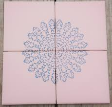 Decorative Tile Coasters Decorative Tile Coasters or Trivet Hand Painted Reclaimed Tile 26