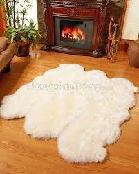 large ivory white sheepskin rug 6 pelt to 5 5x6 ft