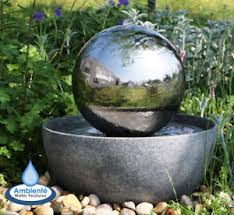 image is loading spherewaterfeaturefountainstainlesssteelballled ball water fountain99