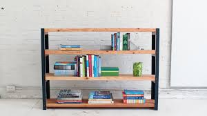 ... How To Make An Ironbound Diy Bookcase Out Of Angle Irons With Wooden  And Steel Substance ...