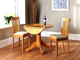 gorgeous antique drop leaf dining table set with hide away folding chairs designs