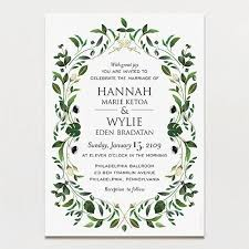 diy printable wedding invitations. gorgeous greenery wedding invitation diy printable invitations