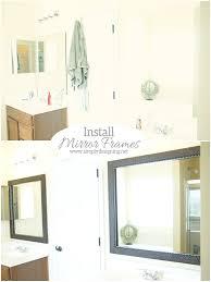 Bathroom Mirror Frame How To Install A Bathroom Mirror Frame The Video